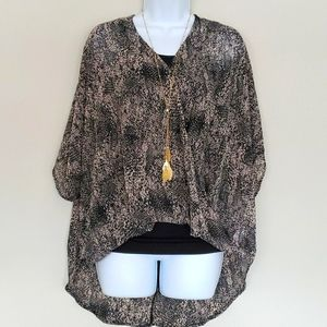 Maurice's Sheer Snakeskin Blouse Size Small
